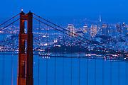 Golden Gate Bridge and San Francisco, California.