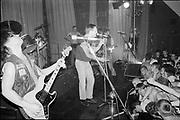 Upstarts onstage, UK, 1980s.