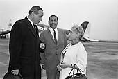 1962 - Mrs Ida Rosenthal arrives at Dublin Airport