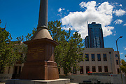 The 8 Hours Movement monument in Melbourne, erected to honour the Victorian workers who won the first 8-hour working day in the world in 1856.