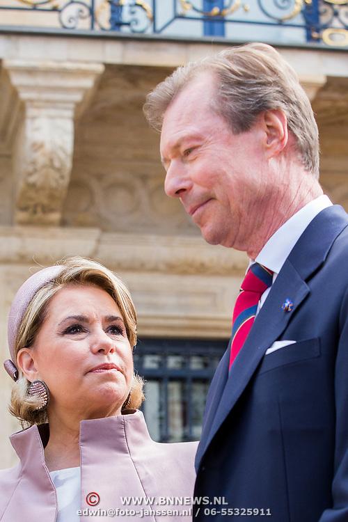 LUX/Luxembug/20180523 - Staatbezoek Luxemburg 2018 dag 1, aankomst Groothertog Henri en Groothertogin Maria Terea