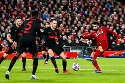 Mohamed Salah of Liverpool shoots at goal - Mandatory by-line: Robbie Stephenson/JMP - 11/03/2020 - FOOTBALL - Anfield - Liverpool, England - Liverpool v Atletico Madrid - UEFA Champions League Round of 16, 2nd Leg