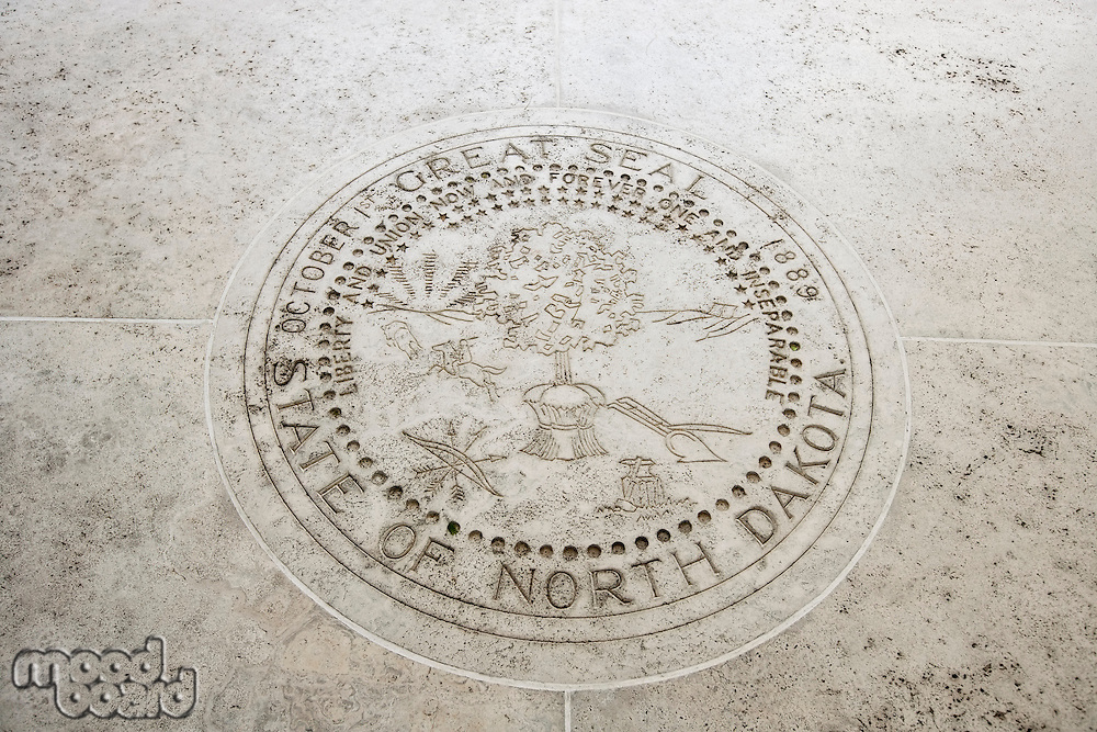 Seal of North Dakota in Fort Bonifacio; Manila; Philippines
