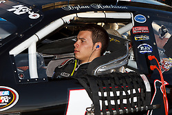 ROSEVILLE, CA - OCTOBER 13: Dylan Hutchison, driver of the #5 Bay Bio Diesel Chevrolet sits in his car during qualifying for the NASCAR K&N Pro Series West Toyota/NAPA 150 at the All American Speedway on October 13, 2012 in Roseville, California. (Photo by Jason O. Watson/Getty Images for NASCAR) *** Local Caption *** Dylan Hutchison