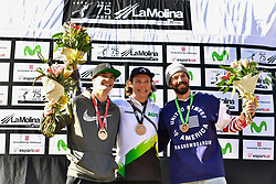Podium, Banked Slalom at the WPSB_2019 Para Snowboard World Cup, La Molina, Spain