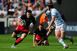 Duncan Taylor of Saracens goes on the attack - Mandatory byline: Patrick Khachfe/JMP - 07966 386802 - 14/05/2016 - RUGBY UNION - Grand Stade de Lyon - Lyon, France - Saracens v Racing 92 - European Rugby Champions Cup Final.