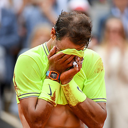 Rafael Nadal (SPA) celebrates his victory during the men Final of Roland Garros on June 9, 2019 in Paris, France. (Photo by Anthony Dibon/Icon Sport)