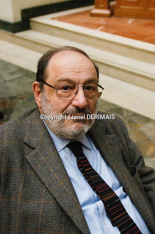 Italian writer Umberto Eco in Beijing.