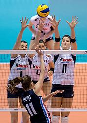 20-05-2016 JAP: OKT Italie - Nederland, Tokio<br /> De Nederlandse volleybalsters hebben een klinkende 3-0 overwinning geboekt op Itali&euml;, dat bij het OKT in Japan nog ongeslagen was. Het met veel zelfvertrouwen spelende Oranje zegevierde met 25-21, 25-21 en 25-14 / Serena Ortolani, Cristina Chirichella #11 of Italie