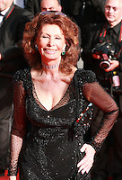 Actress Sophia Loren at the Palme d'Or  Closing Awards Ceremony red carpet at the 67th Cannes Film Festival France. Saturday 24th May 2014 in Cannes Film Festival, France.