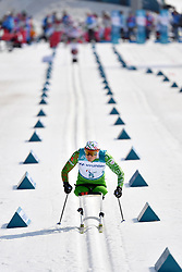 LOBAN Dzmitry BLR LW12 competing in the ParaSkiDeFond, Para Nordic Skiing, Sprint at  the PyeongChang2018 Winter Paralympic Games, South Korea.