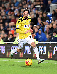 Brentford's Tommy Smith chases the ball down the wing at Cardiff City Stadium - Photo mandatory by-line: Paul Knight/JMP - Mobile: 07966 386802 - 20/12/2014 - SPORT - Football - Cardiff - Cardiff City Stadium - Cardiff City v Brentford - Sky Bet Championship