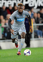 Newcastle United's Mapou Yanga-Mbiwa against Sydney FC in the first match of the Football United Tour at Forsyth Barr Stadium, Dunedin, New Zealand, Tuesday, July 22, 2014.