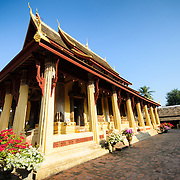 The central temple at at Wat Si Saket in Vientiane, Laos. Built in 1818, the temple is of the Siamese style rather than the traditional Lao style. It is now perhaps the oldest temple still standing in Vientiane.
