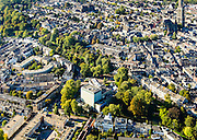 Nederland, Utrecht, Gemeente Utrecht, 30-09-2015; Zocherpark en Lucasbolwerk. Stadsschouwburg (architect W.H. Dudok).<br /> Downtown  Utrecht with theater<br /> luchtfoto (toeslag op standard tarieven);<br /> aerial photo (additional fee required);<br /> copyright foto/photo Siebe Swart