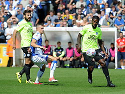 Billy Bodin of Bristol Rovers challenges Anthony Grant of Peterborough United - Mandatory by-line: Neil Brookman/JMP - 12/08/2017 - FOOTBALL - Memorial Stadium - Bristol, England - Bristol Rovers v Peterborough United - Sky Bet League One