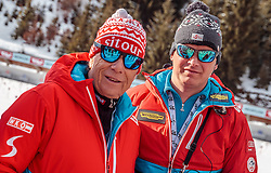 18.02.2017, Biathlonarena, Hochfilzen, AUT, IBU Weltmeisterschaften Biathlon, Hochfilzen 2017, Verfolgung Herren, im Bild ÖSV- Präsident Peter Schröcksnadel, Cheftrainer Reinhard Gösweiner (AUT) // Austrian Ski Federation President Peter Schröcksnadel Headcoach Reinhard Gösweiner of Austria  during Mens Relay of the IBU Biathlon World Championships at the Biathlonarena in Hochfilzen, Austria on 2017/02/18. EXPA Pictures © 2017, PhotoCredit: EXPA/ JFK