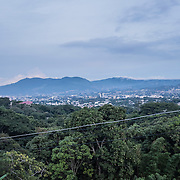 View of the valley on which lays San Salvador, capital of El Salvador, seen from one of the many hills that surrounds the city