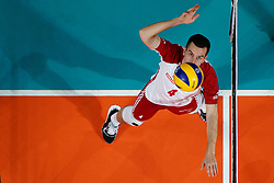 23-09-2019 NED: EC Volleyball 2019 Poland - Germany, Apeldoorn<br /> 1/4 final EC Volleyball Poland win 3-0 / Marcin Komenda #4 of Poland