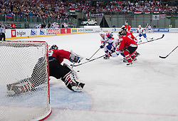 Bence Balizs of Hungary during ice-hockey match between Slovenia and Hungary at IIHF World Championship DIV. I Group A Slovenia 2012, on April 18, 2012 in Arena Stozice, Ljubljana, Slovenia.  (Photo by Vid Ponikvar / Sportida.com)