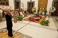 Roma 6 Agosto 2012.Il funerale di Renato Nicolini ex Assessore alla Cultura del comune di Roma nel periodo 1976 - 1985 e inventore dell'Estate Romana, nella sala della  Promototeca  in Campidoglio..
