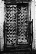 India. Good example of a carved doorway from Rajasthan,
