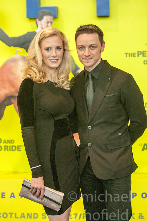 Shauna MacDonald, James McAvoy.<br /> Edinburgh hosts the World Premiere of Filth at the Omni cinema.<br /> &copy;Michael Schofield.