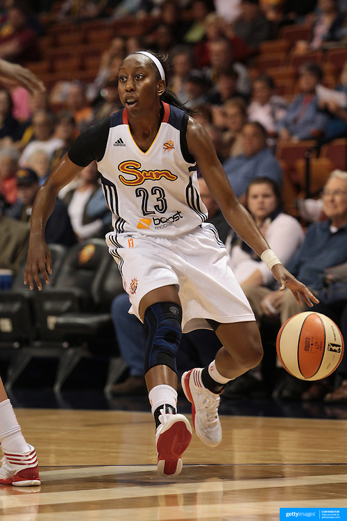 Allison Hightower, Connecticut Sun, in action during the Connecticut Sun V Washington Mystics WNBA regular season game at Mohegan Sun Arena, Uncasville, Connecticut, USA. 7th June 2013. Photo Tim Clayton