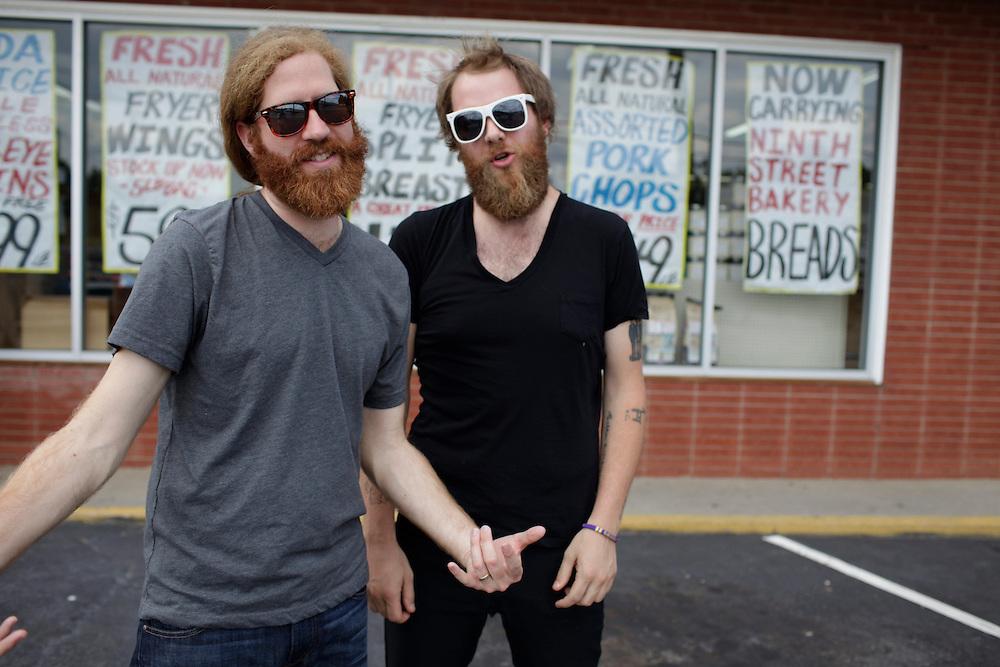 Megafaun; Joe Westerlund, Brad Cook, Phil Cook, photographed in Durham, N.C., June 15, 2011. Megafaun; Joe Westerlund, Brad Cook, Phil Cook, Durham, N.C., June 14, 2011.