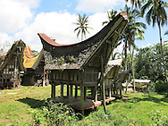 Tongkonan architecture in Tana Toraja Regency, South Sulawesi, Indonesia, Southeast Asia