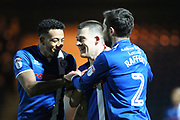 GOAL Donal McDermott celebrates scoring 2-0 during the EFL Sky Bet League 1 match between Rochdale and Port Vale at Spotland, Rochdale, England on 28 February 2017. Photo by Daniel Youngs.