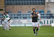 Scorer of Dundee's second goal Sofien Moussa applauds the fans at the end - Dundee v Buckie Thistle, Betfred Cup at Dens Park, Dundee, Photo: David Young<br /> <br />  - &copy; David Young - www.davidyoungphoto.co.uk - email: davidyoungphoto@gmail.com