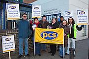 PCS members striking outside Lewisham Police station, south east London.