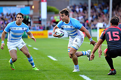 Facundo Isa of Argentina in possession - Mandatory byline: Patrick Khachfe/JMP - 07966 386802 - 25/09/2015 - RUGBY UNION - Kingsholm Stadium - Gloucester, England - Argentina v Georgia - Rugby World Cup 2015 Pool C.