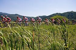 Peloton at Ljubljansko Barje at 2nd stage of Tour de Slovenie 2009 from Kamnik to Ljubljana, 146 km, on June 19 2009, Slovenia. (Photo by Vid Ponikvar / Sportida)