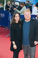 Amy Koppelman and Mike Harrop attends the red carpet during the 41st Deauville American Film Festival on September 6, 2015 in Deauville, France