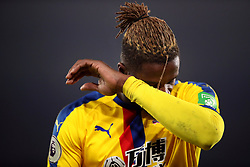 Crystal Palace's Wilfried Zaha during the Premier League match at St Mary's Stadium.