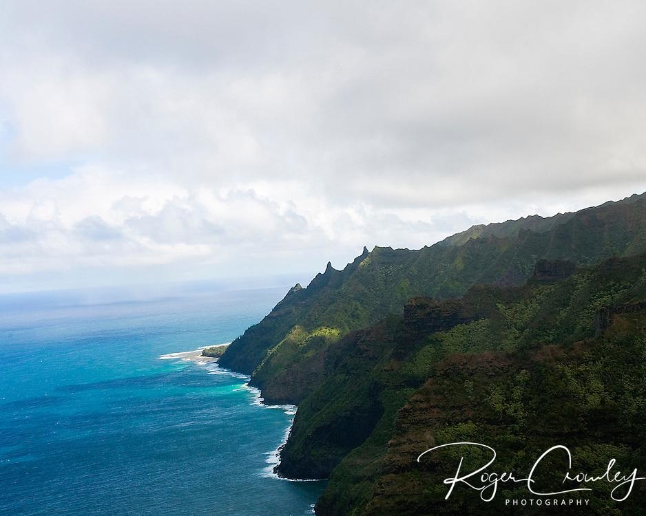 West coast of Kaua'i Hawaii near the Makalena Mountains.