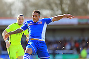 Nathaniel Mendez-Laing during the Sky Bet League 1 match between Rochdale and Southend United at Spotland, Rochdale, England on 25 March 2016. Photo by Daniel Youngs.
