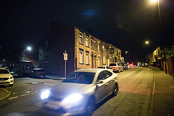 © Licensed to London News Pictures . 08/09/2016 . Rochdale , UK . A house at the junction of Rooley Moor Road and Preston Street in Spotland as a 25 year old man has been arrested for murder following the death of an 8 month old baby boy on Tuesday 6th September 2016 . A 24 year old woman is also in custody . Photo credit: Joel Goodman/LNP