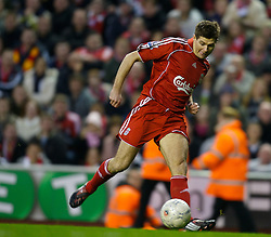 LIVERPOOL, ENGLAND - Saturday, January 26, 2008: Liverpool's captain Steven Gerrard MBE sets up the fifth goal against Havant and Waterlooville during the FA Cup 4th Round match at Anfield. (Photo by David Rawcliffe/Propaganda)
