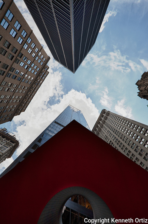 The Qube by Naim Ajger on Broadway and Liberty streets in the Financial Districts of Lower Manhattan.