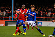 Bastien Hery during the The FA Cup match between Aldershot Town and Rochdale at the EBB Stadium, Aldershot, England on 7 December 2014.