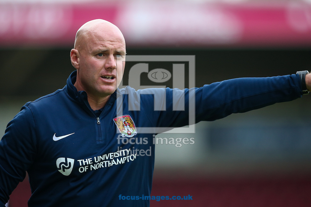 Northampton Town manager Rob Page during the pre-season match at Sixfields Stadium, Northampton<br /> Picture by Andy Kearns/Focus Images Ltd 0781 864 4264<br /> 26/07/2016
