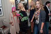 ZANDRA RHODES; NOELLE RENO; LISA HENRIKSON; , Z By Zandra Rhodes, COLLECTION BY NOELLE RENO FOR ZANDRA RHODES. .  - launch party, The Arch Hotel, 50 Great Cumberland Place, London W1,