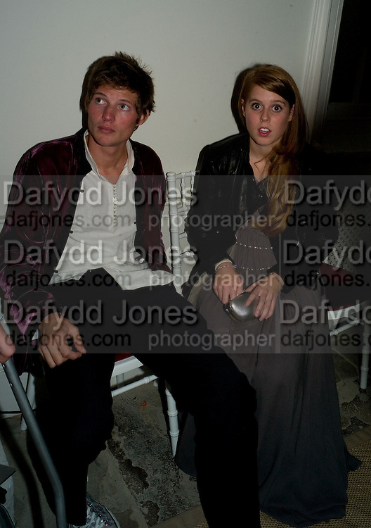 PRINCESS BEATRICE, Nicky Haslam party for Janet de Bottona nd to celebrate 25 years of his Design Company.  Parkstead House. Roehampton. London. 16 October 2008.  *** Local Caption *** -DO NOT ARCHIVE-© Copyright Photograph by Dafydd Jones. 248 Clapham Rd. London SW9 0PZ. Tel 0207 820 0771. www.dafjones.com.