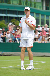 LONDON, ENGLAND - Saturday, June 26, 2010: Kenneth Skupski (GBR) during the Gentlemen's Doubles 1st Round match on day six of the Wimbledon Lawn Tennis Championships at the All England Lawn Tennis and Croquet Club. (Pic by David Rawcliffe/Propaganda)
