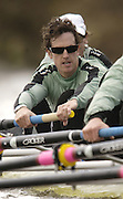 Putney, London, ENGLAND, 28.03.2006, 2006, 2006 Cambridge President Tom Edwards, during Cambridges mid day training out on the River Thames, during, Varsity, Tideway Week, Tuesday,  © Peter Spurrier/Intersport-images.com.[Mandatory Credit Peter Spurrier/ Intersport Images] Varsity, Boat race. Rowing Course: River Thames, Championship course, Putney to Mortlake 4.25 Miles