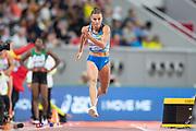 Maryna Bekh-Romanchuk (Ukraine), Long Jump Women - Final, during the 2019 IAAF World Athletics Championships at Khalifa International Stadium, Doha, Qatar on 6 October 2019.