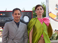 Venice, Italy, 31st August 2019, Gael García Bernal and Mariana Di Girolamo at the gala screening of the film Ema at the 76th Venice Film Festival, Sala Grande. Credit: Doreen Kennedy/Alamy Live News